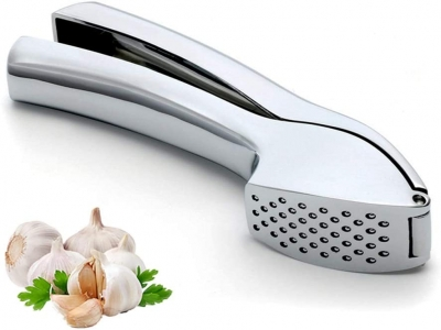 Stainless Steel Garlic Press, Garlic Peeler Crusher and Mincer with Sturdy Design Professional Peeler Easy Squeeze Food Grade Rust proof Easy Squeeze and Clean Dishwasher Safe Ergonomic Comfort Handle